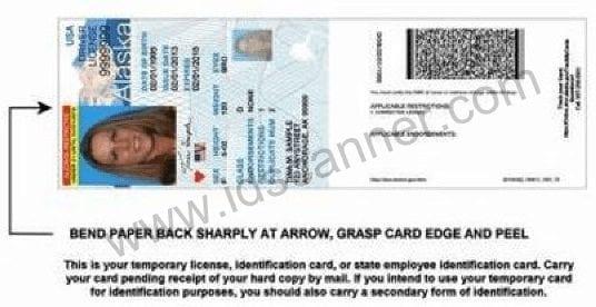 Alaska Temporary Drivers License