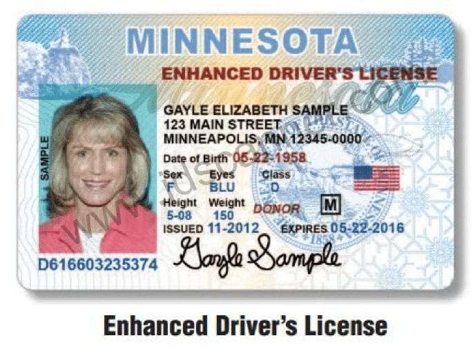 MN Enhanced Drivers License Front