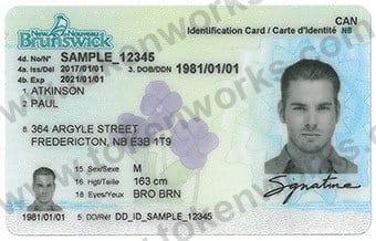 New New Brunswick Canadian ID Card Design