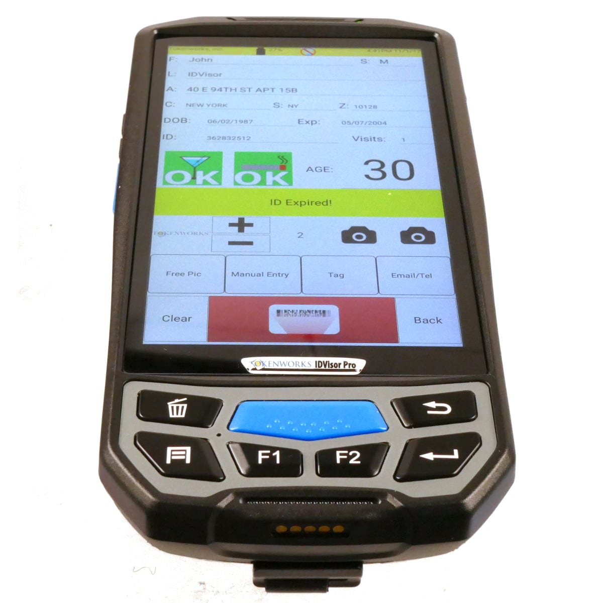 Tokenworks IDVisor Smart Plus ID Scanner