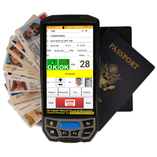 Smart Plus ID Scanner with IDs and Passports