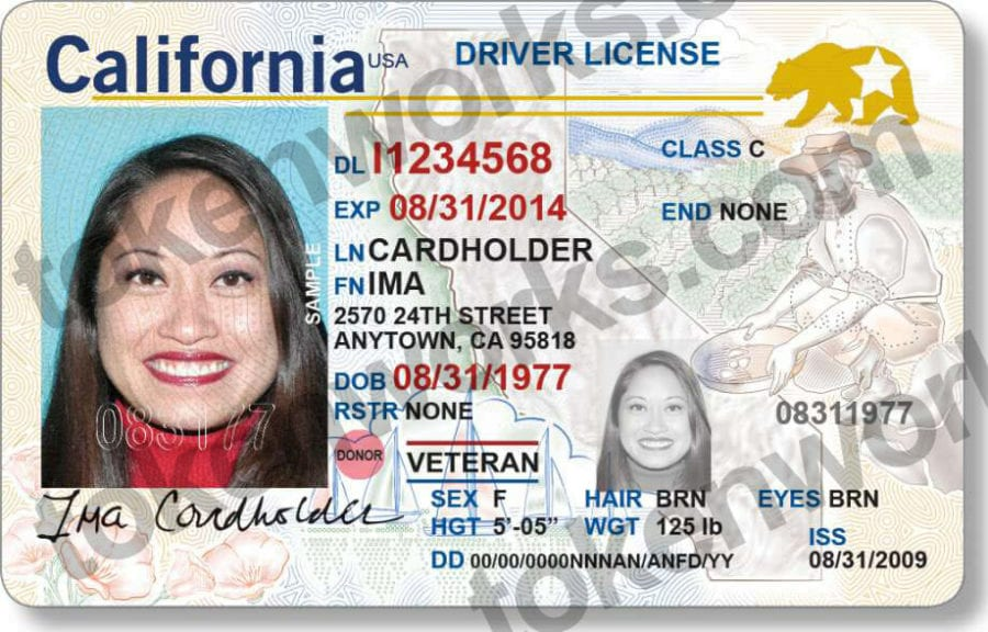New REAL ID compliant California Driver's License Design
