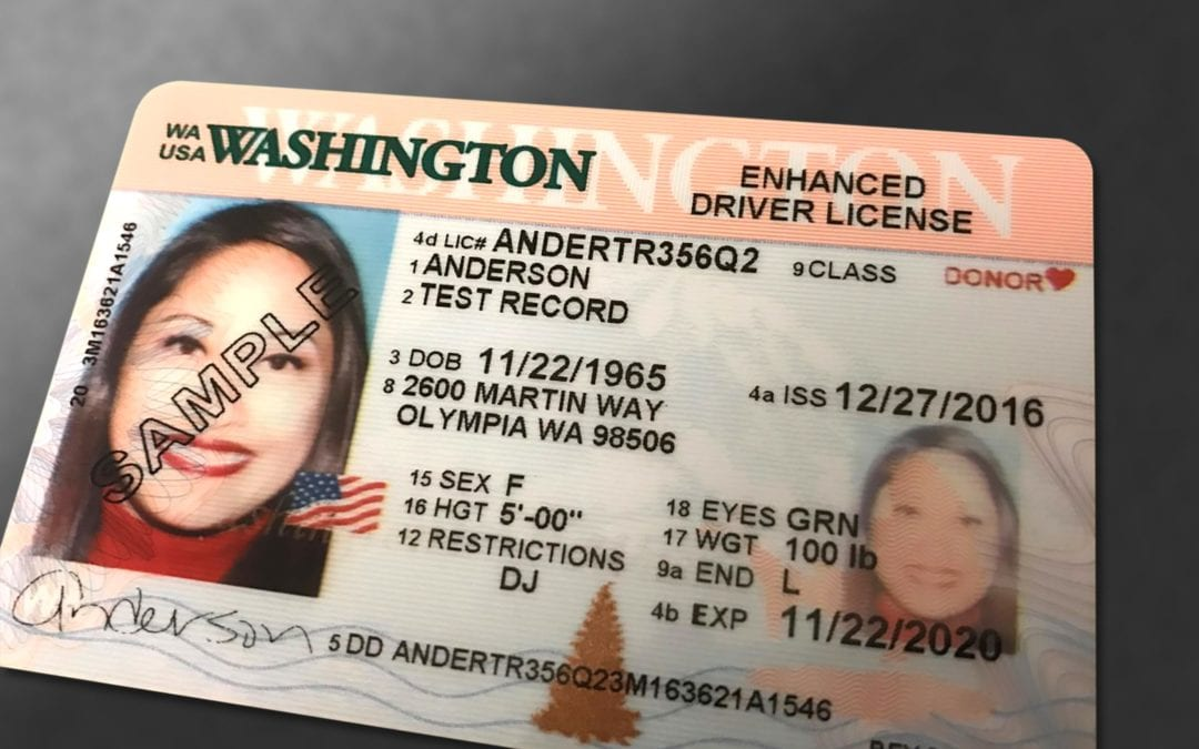New Washington Enhanced Driver License and ID Card
