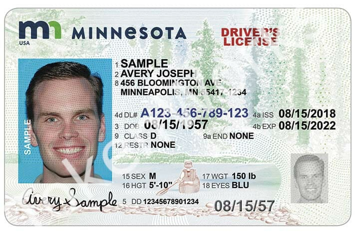 New Driver's License and Identification Card Design for Minnesota