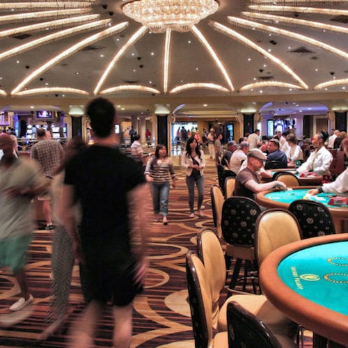 Busy casino floor