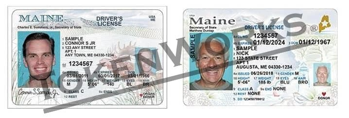 REAL ID Compliant License Design for Maine Revealed
