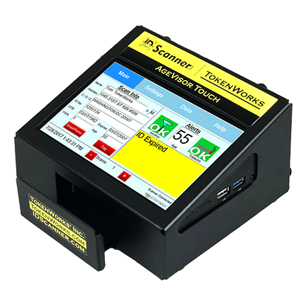 AgeVisor Touch age verification countertop ID scanner