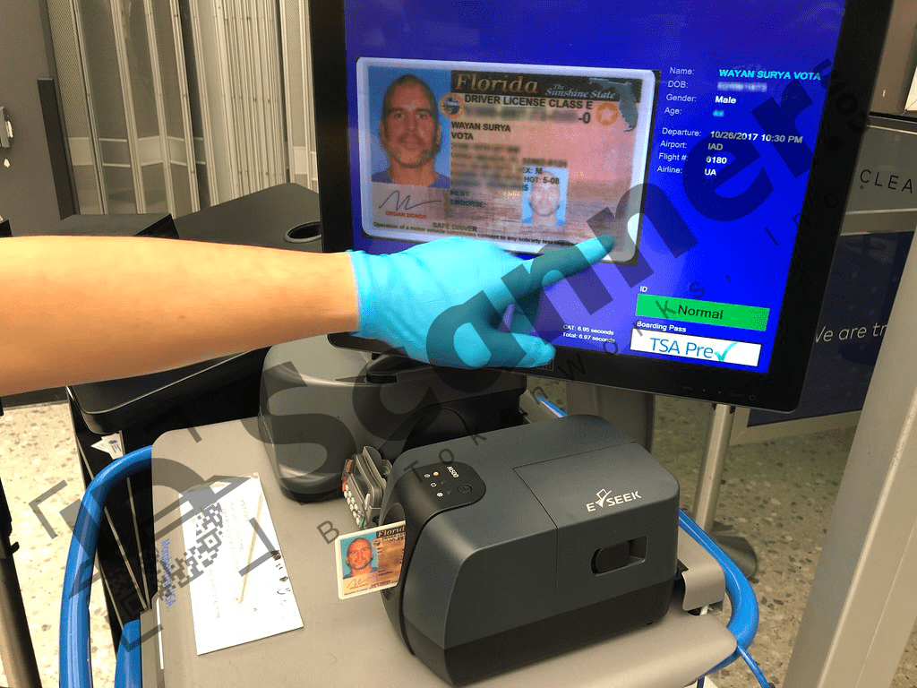 Credential Authentication Technology (CAT) Scanner from TSA