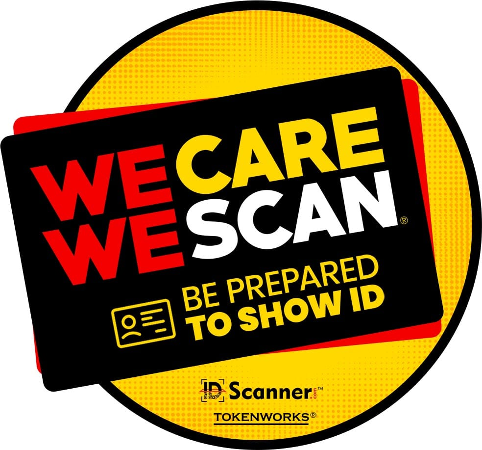 We Care We Scan sticker
