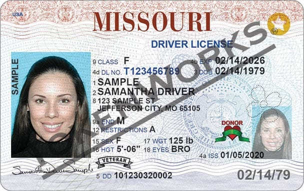 new missouri driver's license