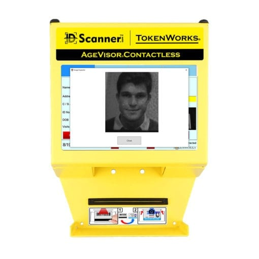 agevisor contactless with face and driver's license photo capture capabilities