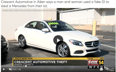 Car Dealership says a man and a woman used a fake ID to steal a Mercedes from their lot